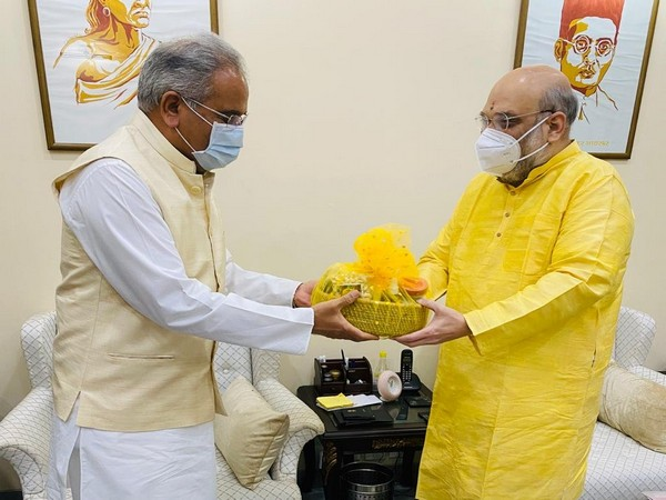 Chhattisgarh Chief Minister Bhupesh Baghel meeting with Union Home Minister Amit Shah in New Delhi in November (File photo)