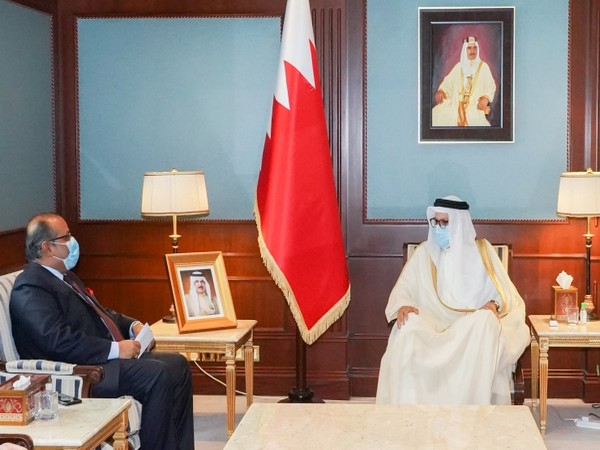 India, Bahrain discuss ways to boost cooperation (Photo Credit: Twitter/ India in Bahrain)
