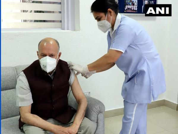 Delhi Lieutenant Governor Anil Baijal receiving first dose of COVID-19 vaccine (Photo/ANI)
