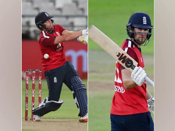 England batsmen Jonny Bairstow and Dawid Malan