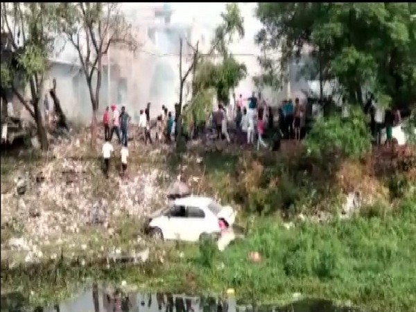 visual from the site where blast occurred