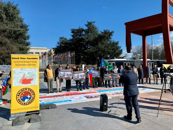 Protest outside United Nations Human Rights Council by Baloch activists in March this year