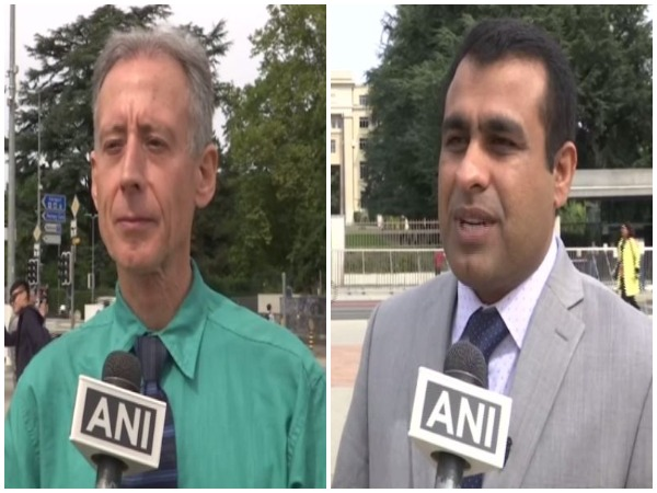UK-based Human Rights Activist Peter Tatchell and Nabi Bakhsh Baloch from US-based Baloch National Movement speaking to ANI