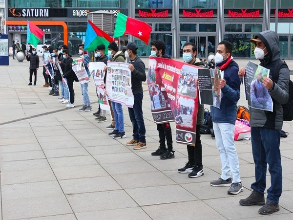 Baloch organisation in Germany hold protest in solidarity with families of missing persons