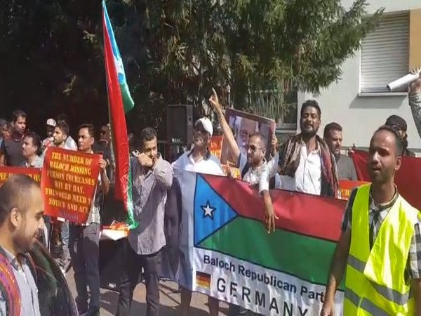 Baloch Republican Party organised anti-pakistan protest outside the country's consulate in Frankfurt.