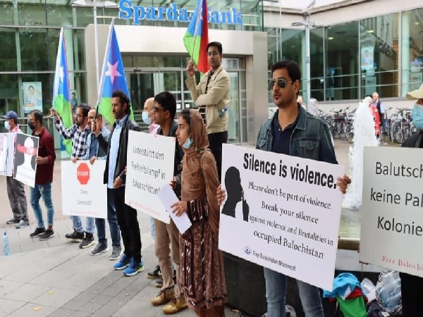 Free Balochistan Movement holds protests in Hanover, Germany