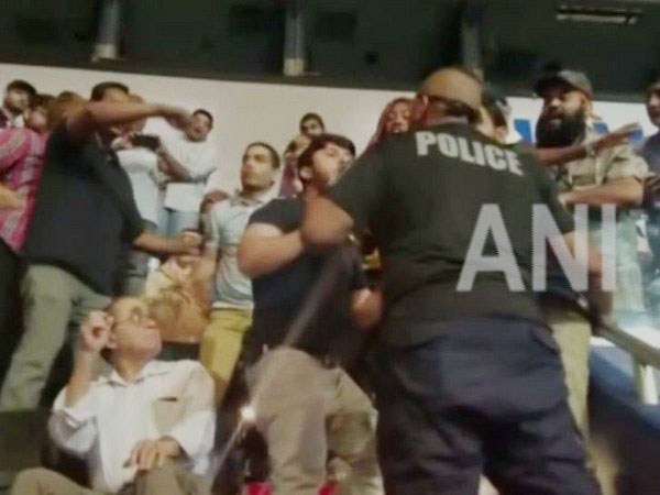 A group of Baloch activists disrupted Imran Khan's speech at the Capital one Arena here on Sunday.