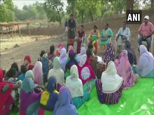 Women getting trained in organic fertilizer making in Balrampur, Chhattisgarh