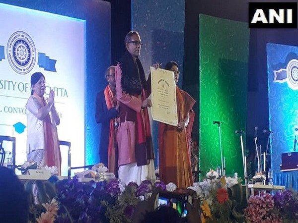 Nobel laureate Abhijit Banerjee conferred with D Litt by Calcutta University on Tuesday was conferred with honorary D Litt by Calcutta University on Tuesday.