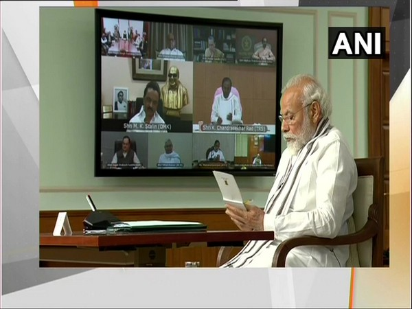 West Bengal Chief Minister and TMC leader Mamata Banerjee taking part in all party meeting with PM Modi.