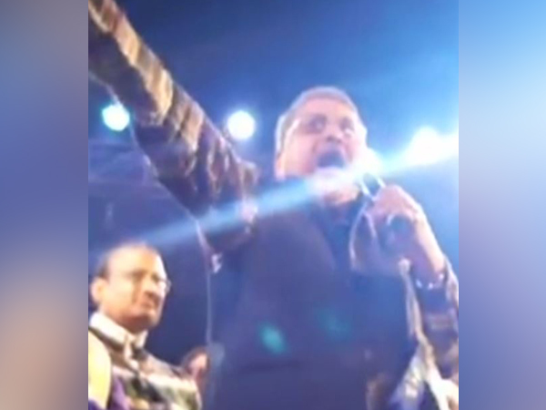 TMC MP Kalyan Banerjee addressing a gathering in Hooghly on Sunday