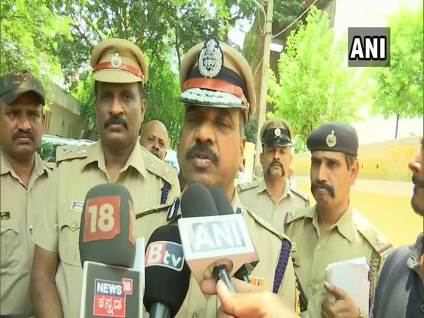 Bengaluru City Police Commissioner T. Suneel Kumar while talking to ANI. Photo: ANI.