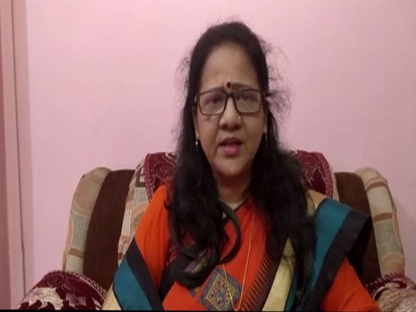 Sunita Bansal, member of Uttar Pradesh State Commission for Women speaking to ANI in Lucknow on Monday. (Photo/ANI)