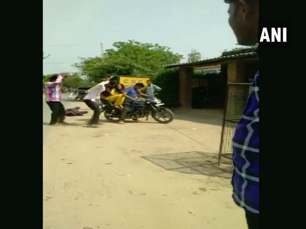 A video showing the couple being beaten up /ANI