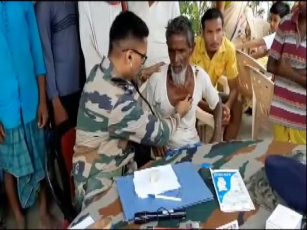 Visuals from relief camps set up by the Indian Army in Barpeta on Monday. Photo/ANI