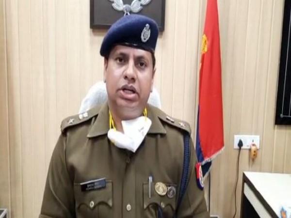 Superintendent of Police Hemraj Meena speaking to ANI in Basti on Monday. [Photo/ANI]