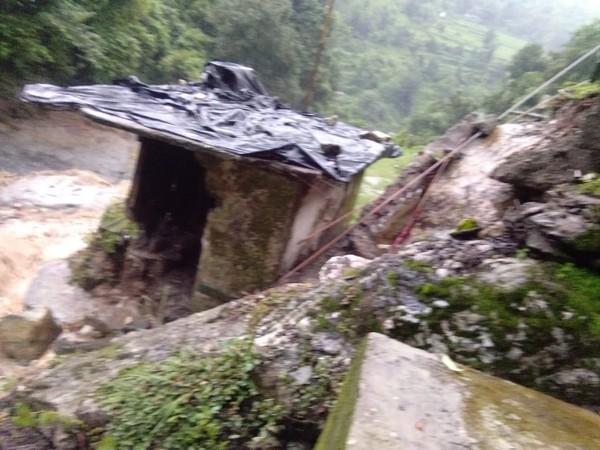 Cloudburst triggers bridge collapse as rain wreaks havoc in Chamoli [Photo/ANI]