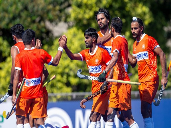 India celebrate after defeating Argentina (Photo/ Hockey India)