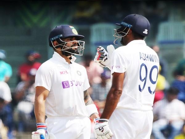 India skipper Virat Kohli and R Ashwin (Image: BCCI's Twitter