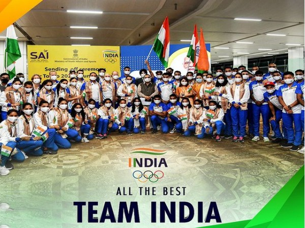 Indian contingent at the Tokyo Olympics 2020 (Image Source: Instagram)