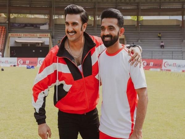 Ranveer Singh and Ajinkya Rahane (Image Source: Instagram)