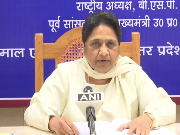 BSP chief Mayawati talking to ANI on Monday at Lucknow