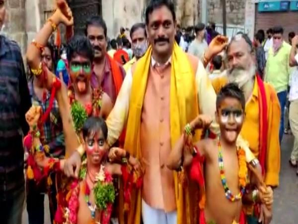 Bonalu celebrations kick off in Hyderabad. (Photo/ANI)