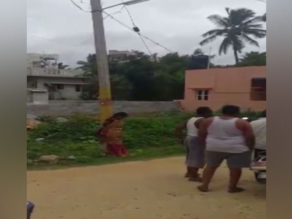 Visuals of the woman tied to pole in Kodigehalli, Karnataka.