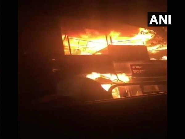 A visual from the incident of fire at hotel in Bengaluru.