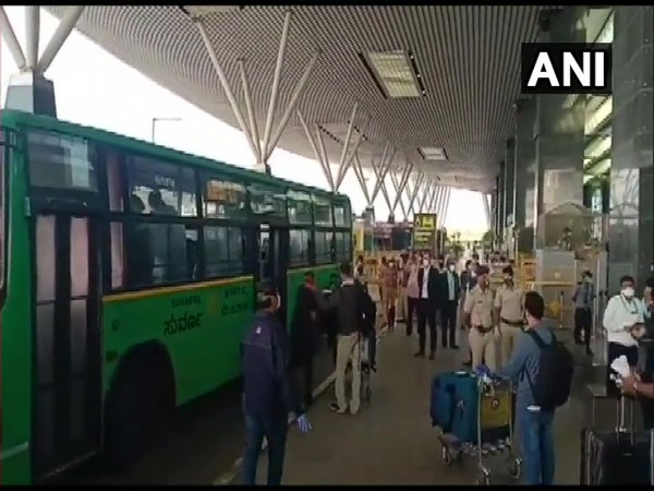 Visuals from Kempegowda international airport. (Photo/ANI)