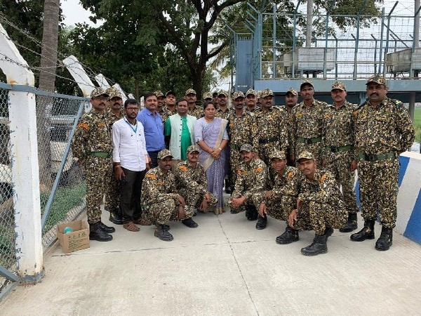 The team of Marshals deployed by BBMP to protect to protect Varthur lake in Bengaluru, Karnataka.