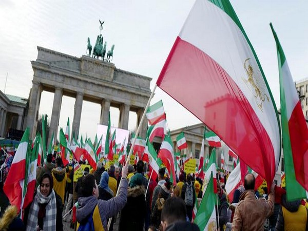 Protest against Iran in Berlin on July 6, 2018. (Photo/Reuters)