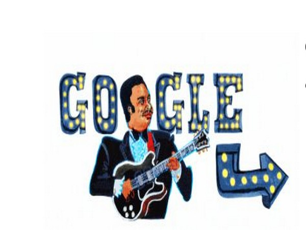 Google Doodle paying tribute to Blues musician B.B. King