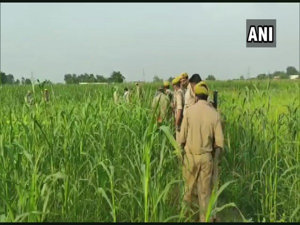 Police personnel visiting incident spot in Bhadohi, Uttar Pradesh on Thursday. (Photo/ANI)