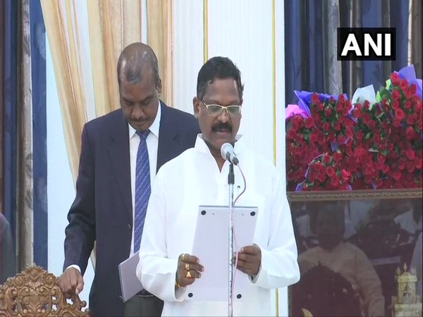 Tribal MLA from Sitapur constituency, Amarjeet Bhagat on Saturday took oath as 13th Cabinet Minister in Chief Minister Bhupesh Baghel's government.