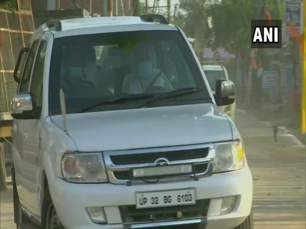 RSS chief Mohan Bhagwat arrives in Ayodhya (Photo/ANI)