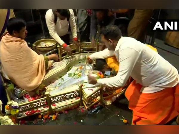 Devotees throng Bhimashankar Temple at Pune on Maha Shivratri on Monday