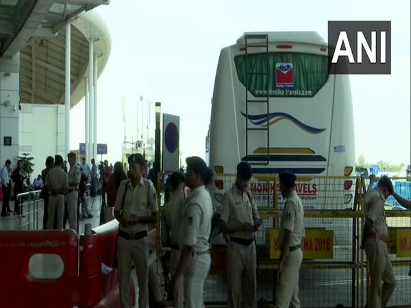 Section 144 of CrPC imposed at Bhopal Airport. Photo/ANI
