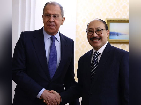 Russian Foreign Minister Sergey Lavrov and Indian Foreign Secretary Harsh Shringla (Photo/ANI)