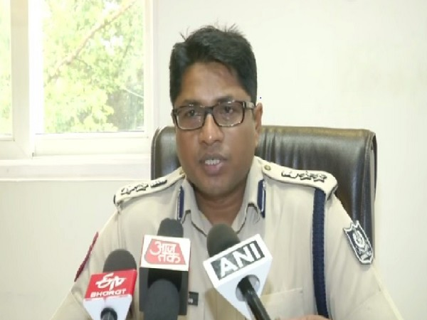 Deputy Commissioner of Police Anup Sahoo speaking to media persons in Bhubneswar, Odisha on July 1. Photo/ANI