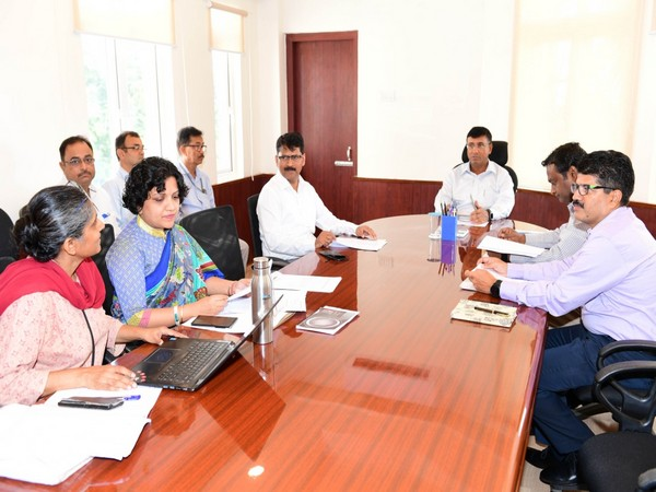 Odisha Chief Secretary Asit Tripathy in meeting with officials at Bhubaneswar on Saturday