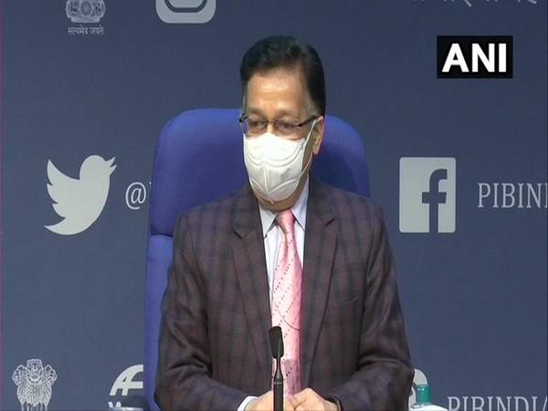 Union Health Secretary Rajesh Bhushan speaking at a press briefing on Tuesday. (Photo/ANI)