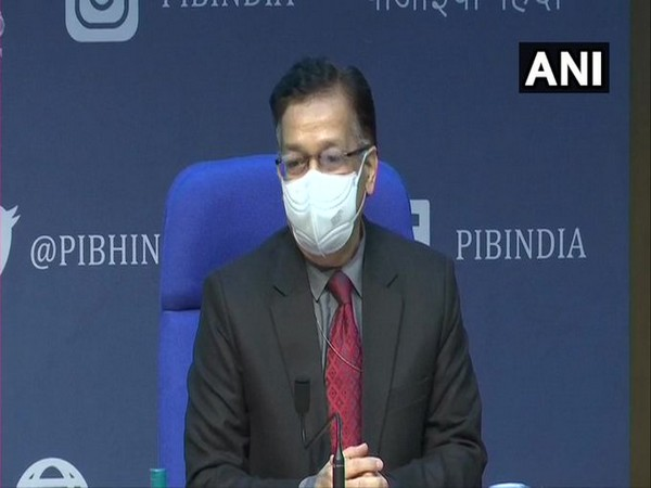 Union Health Secretary Rajesh Bhushan during a press conference on Tuesday. (Photo/ANI)