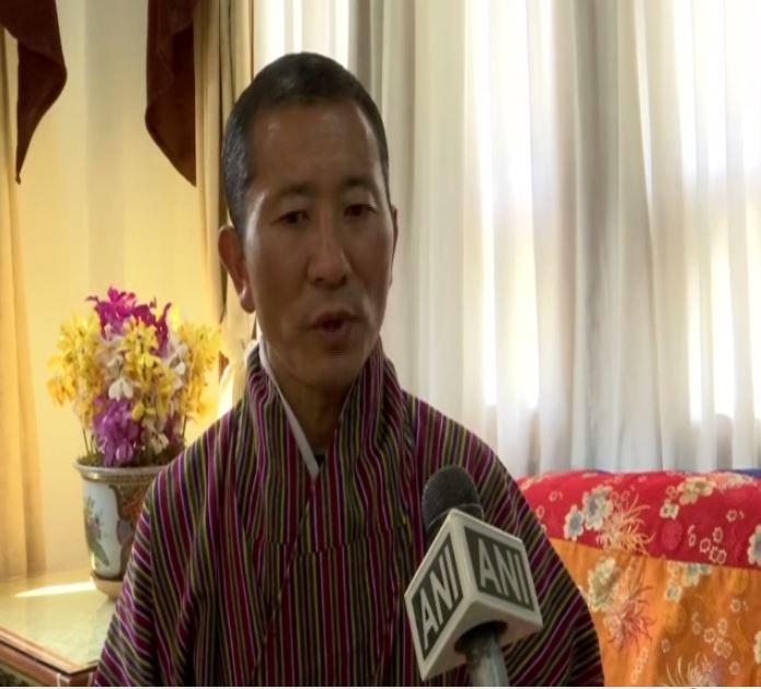 Bhutanese Prime Minister Lotay Tshering speaking to ANI on Sunday.