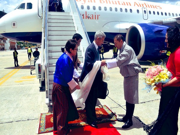 External Affairs Minister Subrahmanyam Jaishankar being welcomed in Bhutan for his first bilateral visit after assuming office (Photo/Raveesh Kumar, MEA Spokesperson)