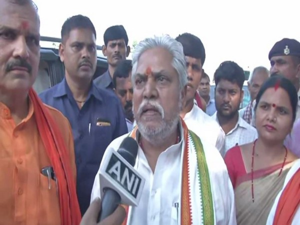 Bihar Agricultural Minister Prem Kumar speaking to ANI on Friday in Madhubani. Photo/ANI