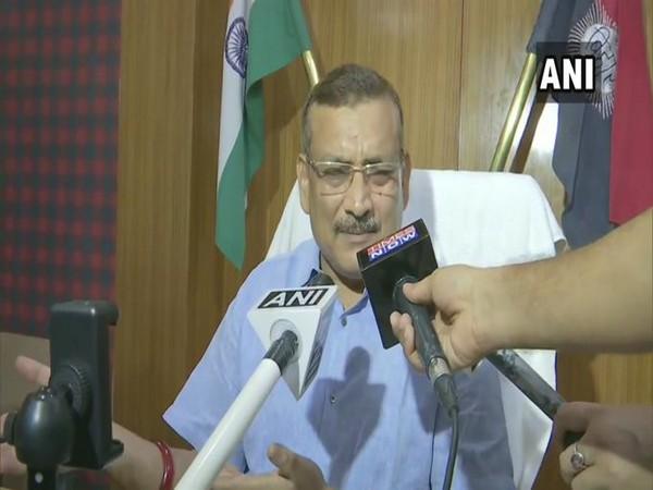 Bihar DGP Gupteshwar Pandey speaking to reporters in Patna on Tuesday.