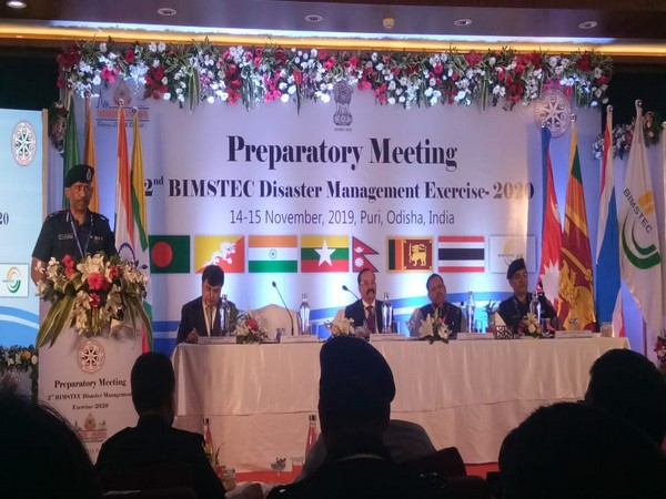 The two-day preparatory meeting for the 2nd BIMSTEC Disaster Management Exercise - 2020 taking place in Puri on Thursday.