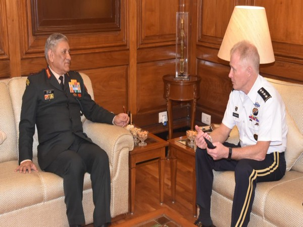 General Raymond Thomas, Commander, US Special Operations Command, US Army, on Thursday called on Indian Army chief General Bipin Rawat in New Delhi. Photo/ANI