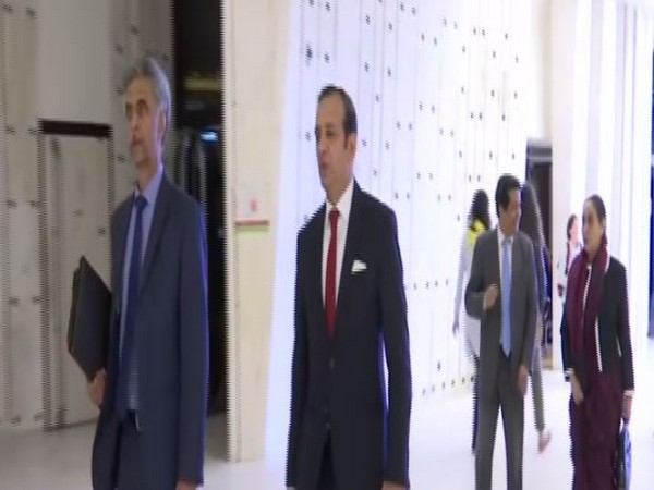 The Indian delegation in Geneva on Monday (Photo/ANI)